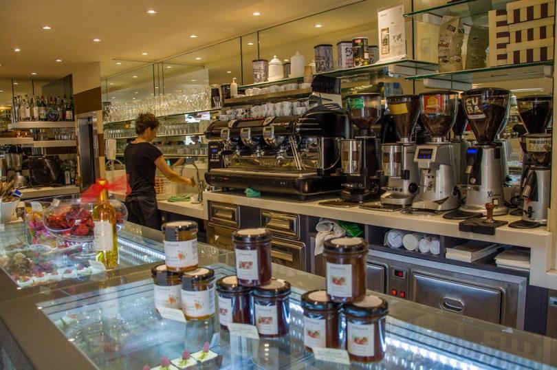 Inside a traditional Italian bar - Caffe Bontadi - Rovereto, Italy - www.rossiwrites.com