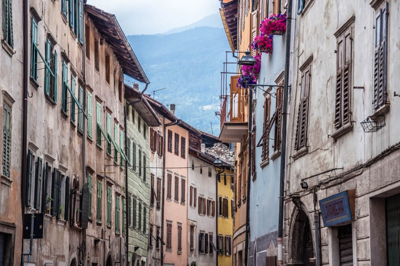 Colourful old houses - Borgo Valsugana, Trentino, Italy - rossiwrites.com