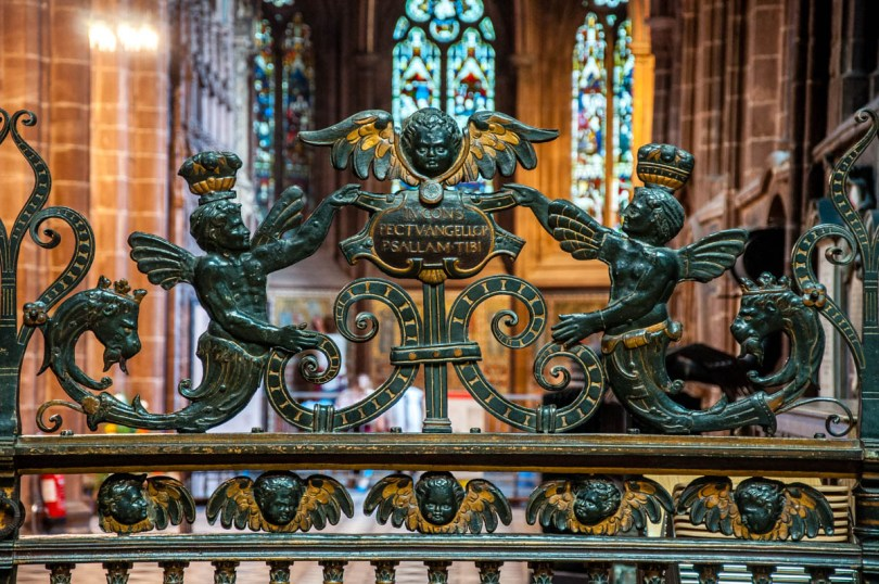 Intricate ironwork - Chester Cathedral - Chester, Cheshire, England - rossiwrites.com