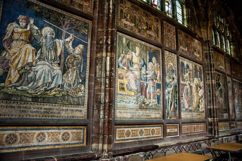 Mosaic of Biblical scenes - Chester Cathedral - Chester, Cheshire, England - rossiwrites.com-2