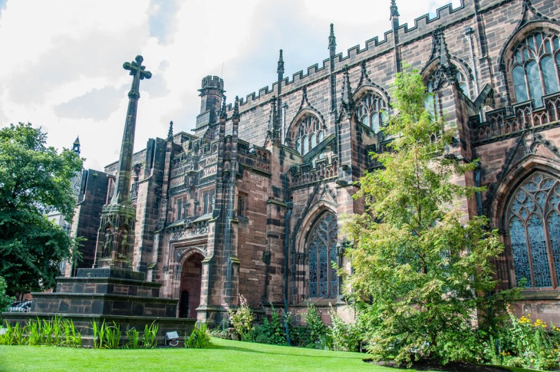 Outside view - Chester Cathedral - Chester, Cheshire, England - rossiwrites.com