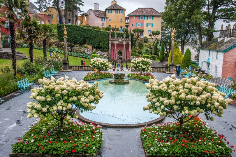 The garden of Portmeirion - Wales, UK - rossiwrites.com