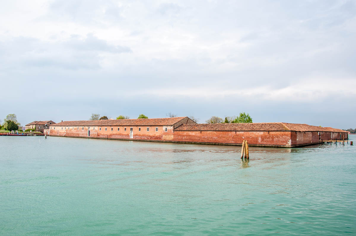 A view of the island of Lazzaretto Vecchio from the island of Lido - Venice, Italy - rossiwrites.com
