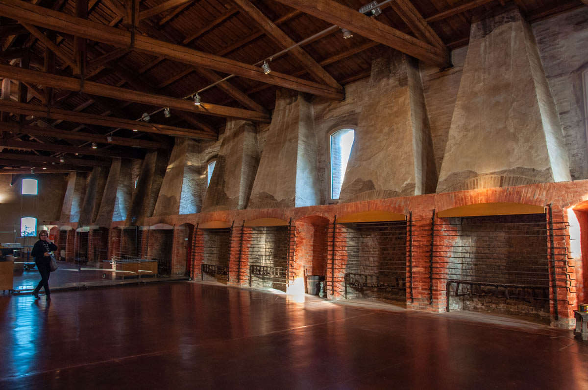 The smoking fireplaces in the eel factory - Comacchio, Emilia-Romagna, Italy - rossiwrites.com