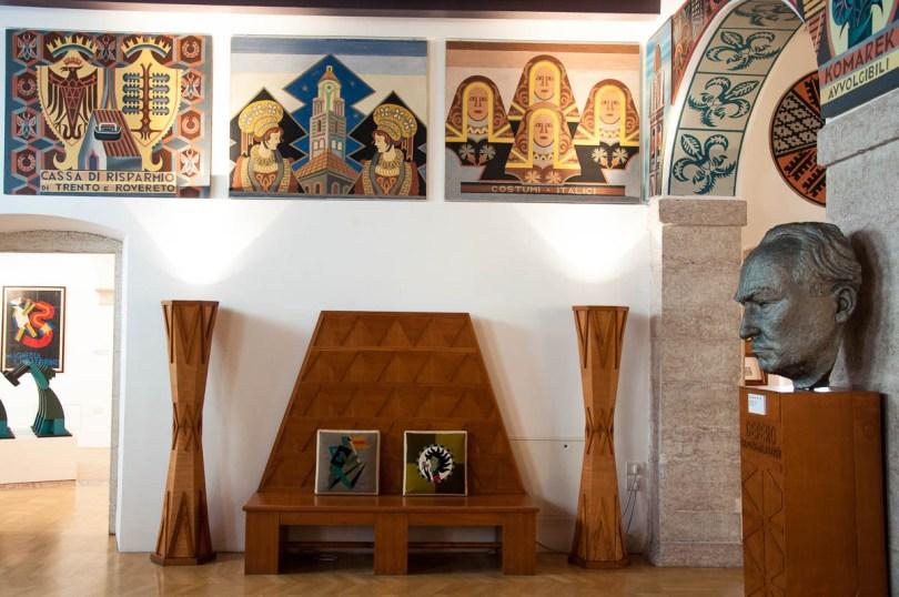 Inside the Futurist House of Art Fortunato Depero - Rovereto, Trentino, Italy - rossiwrites.com