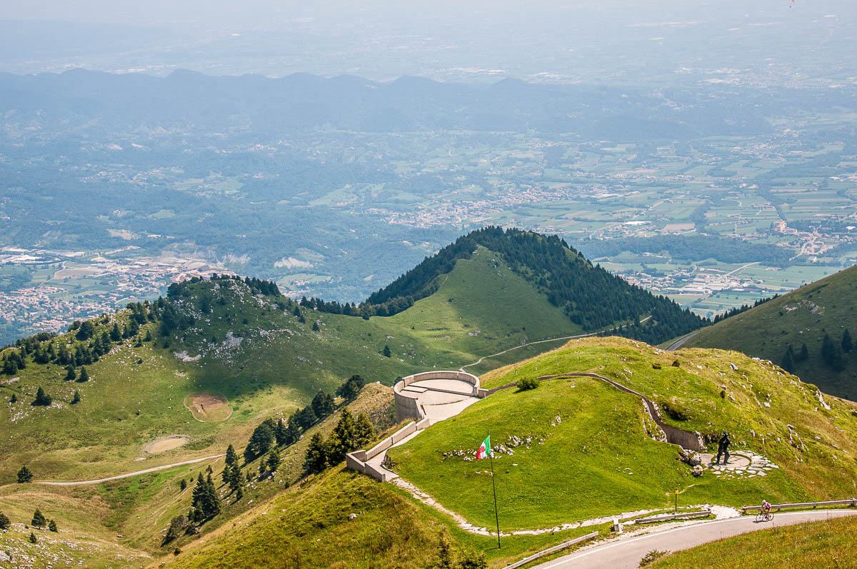 View from Monte Grappa with the Venetian plains - Veneto, Italy - rossiwrites.com