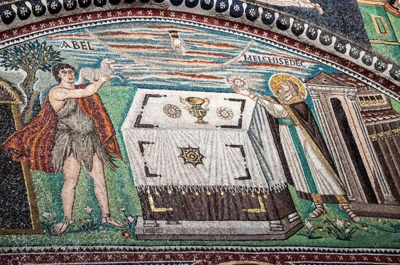 Abel and Melchisedec mosaics scene - Basilica of San Vitale - Ravenna, Emilia Romagna, Italy - rossiwrites.com