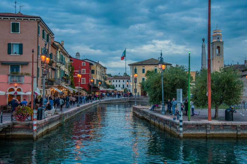 Blue hour in Lazise, Lake Garda, Italy - rossiwrites.com