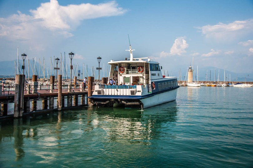 Ferry boat at the dock - Desenzano del Garda, Lombardy, Italy - rossiwrites.com