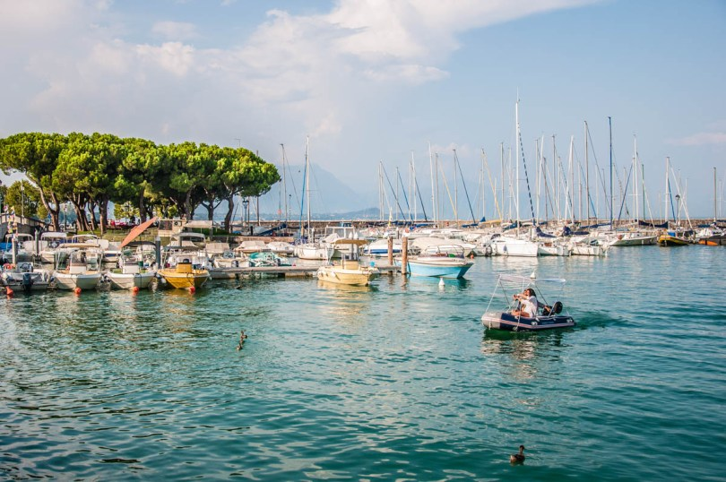View of the old port Porto Vecchio - Desenzano del Garda, Lombardy, Italy - rossiwrites.com