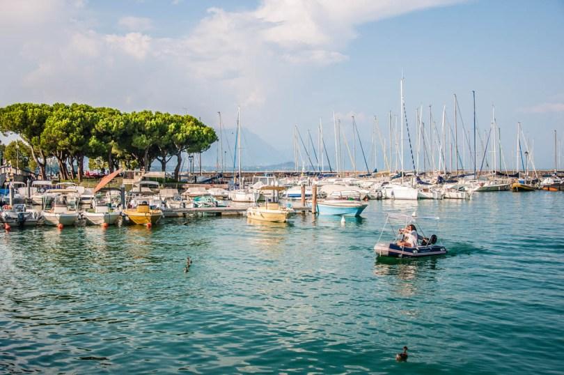 View of the old port Porto Vecchio - Desenzano del Garda, Lombardy, Italy - rossiwrites.com