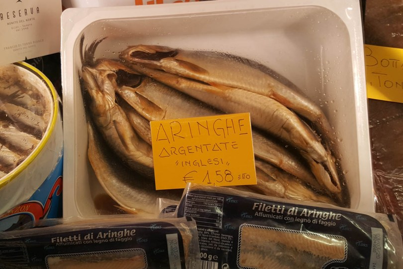 English herrings in Sotto il Salone in Palazzo della Ragione - Padua, Veneto, Italy - rossiwrites.com