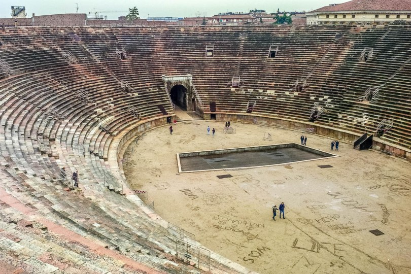 Inside view of Arena di Verona - Verona, Veneto, Italy - rossiwrites.com