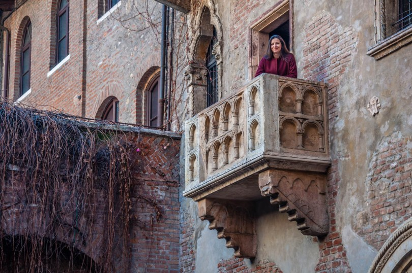 The balcony of Juliet's House - Verona, Veneto, Italy - rossiwrites.com