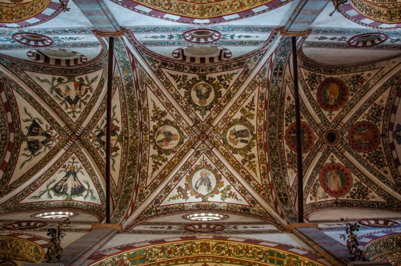 The ceiling of the Church of St. Anastasia - Verona, Veneto, Italy - rossiwrites.com