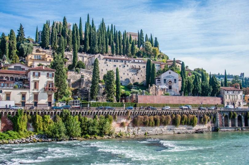 San Pietro Hill - The view from Ponte Pietra - Verona, Veneto, Italy - rossiwrites.com