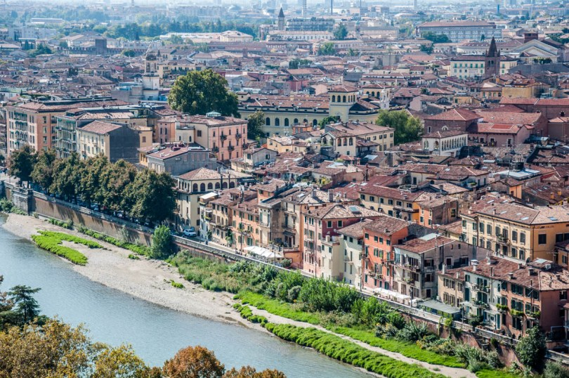 View from above - Verona, Veneto, Italy - rossiwrites.com