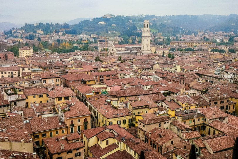 View from the top of the Lamberti Tower - Verona, Veneto, Italy - rossiwrites.com