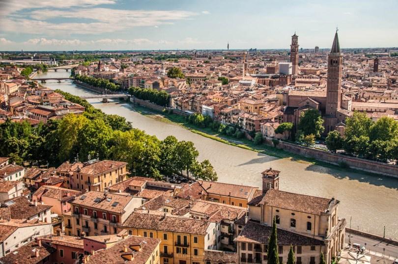 View of Verona from Castel San Pietro - Verona, Veneto, Italy - rossiwrites.com