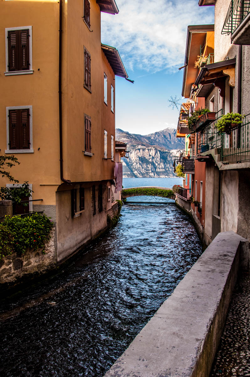 The mouth of the river Aril - Cassone, Lake Garda, Veneto, Italy - rossiwrites.com