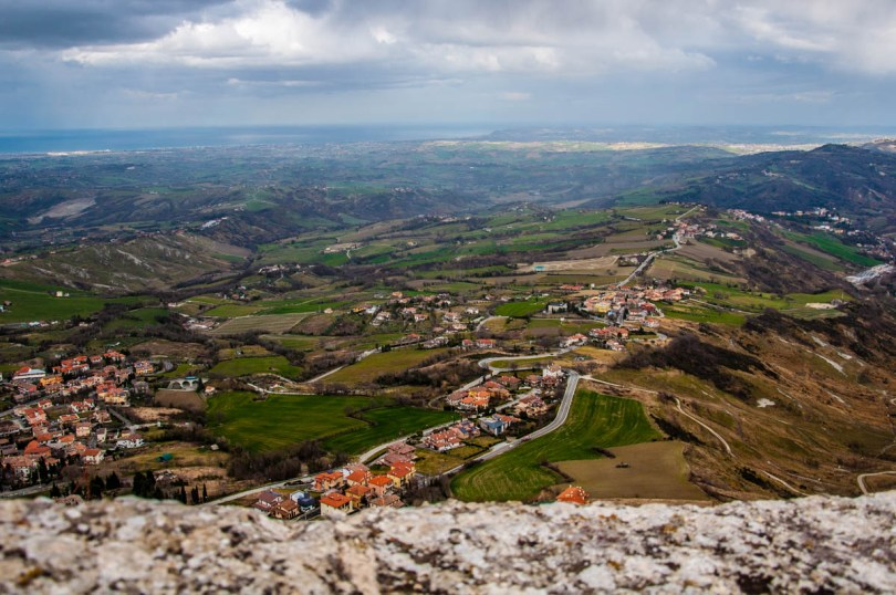 The view from Guaita - The First Tower - San Marino - rossiwrites.com