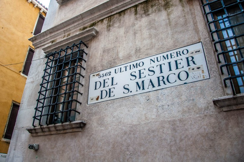 Last number of the sestiere of San Marco - Venice, Italy - rossiwrites.com