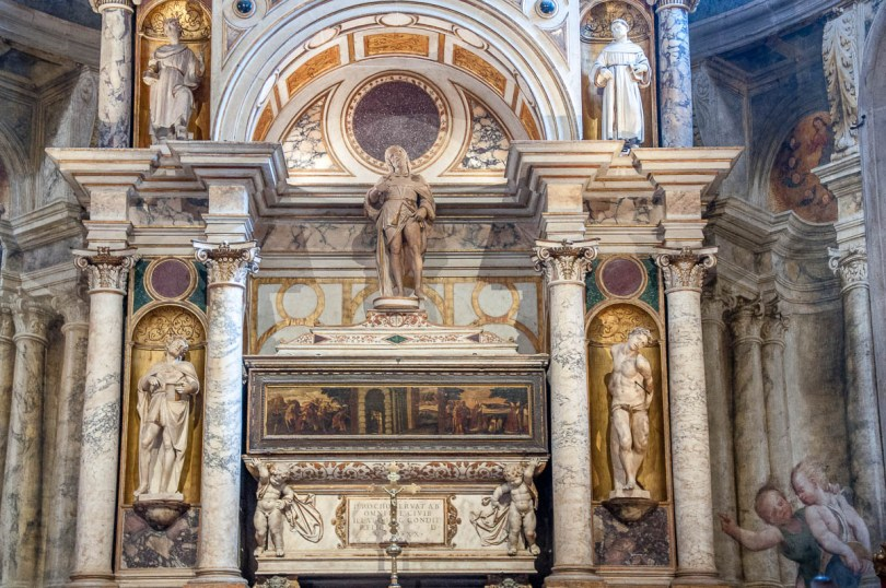 The relics of St. Roch in the altar of the Church of San Rocco - Venice, Italy - rossiwrites.com