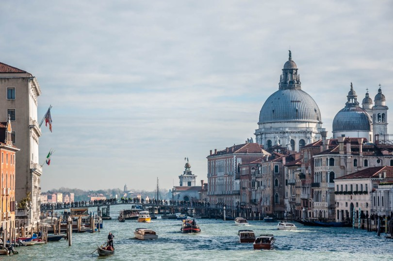 Feast of Madonna della Salute - The votive bridge seen from Accademia Bridge - Venice, Veneto, Italy - rossiwrites.com