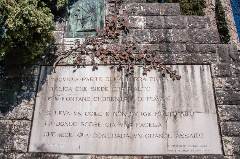 Dante's Monument - Dante's Hill - Col Bastia - Romano d'Ezzelino, Veneto, Italy - rossiwrites.com