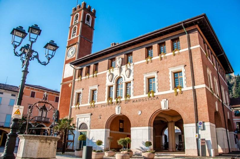 The building of the Banco Populare di Marostica at Piazza Castello - Marostica, Veneto, Italy - rossiwrites.com