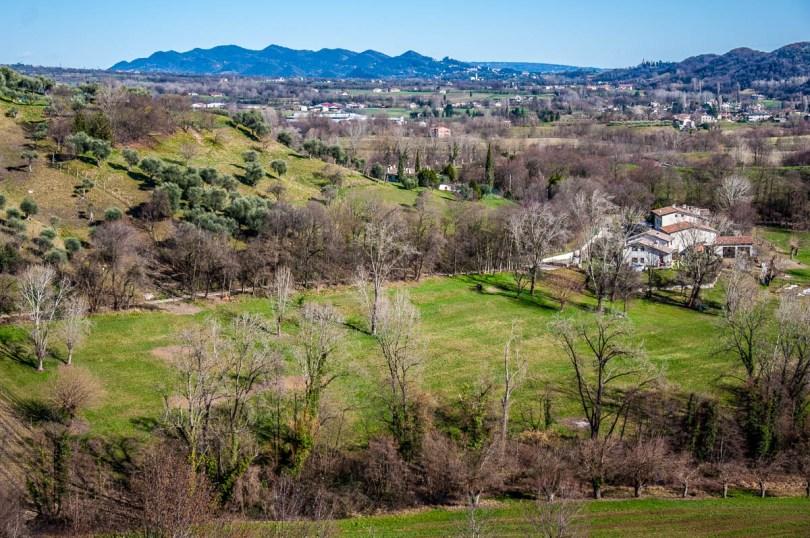 The Asolo Hills seen from Dante's Hill - Col Bastia - Romano d'Ezzelino, Veneto, Italy - rossiwrites.com