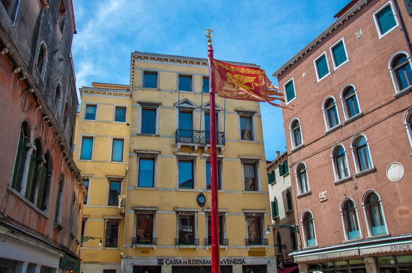 The flag of the Veneto - Venice, Italy - rossiwrites.com