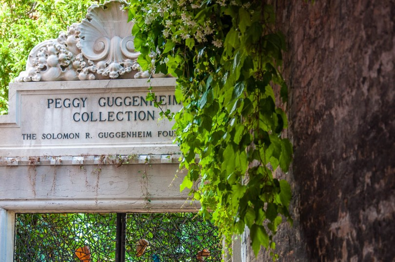 The side gate of the Peggy Guggenheim Museum - Venice, Italy - rossiwrites.com