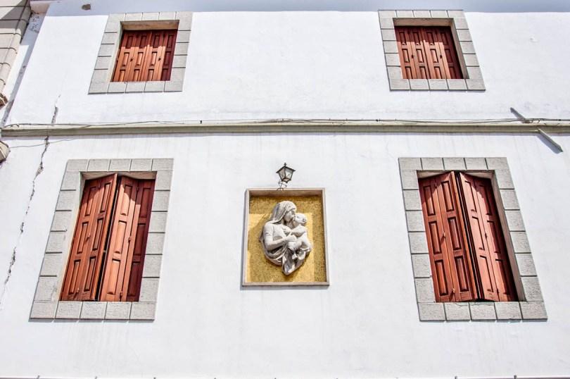 A facade with a bas-relief- Palmanova, Friuli-Venezia Giulia, Italy - www.rossiwrites.com