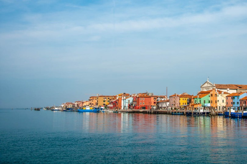 Pellestrina seen from the ferry arriving from Chioggia - Veneto, Italy - rossiwrites.com