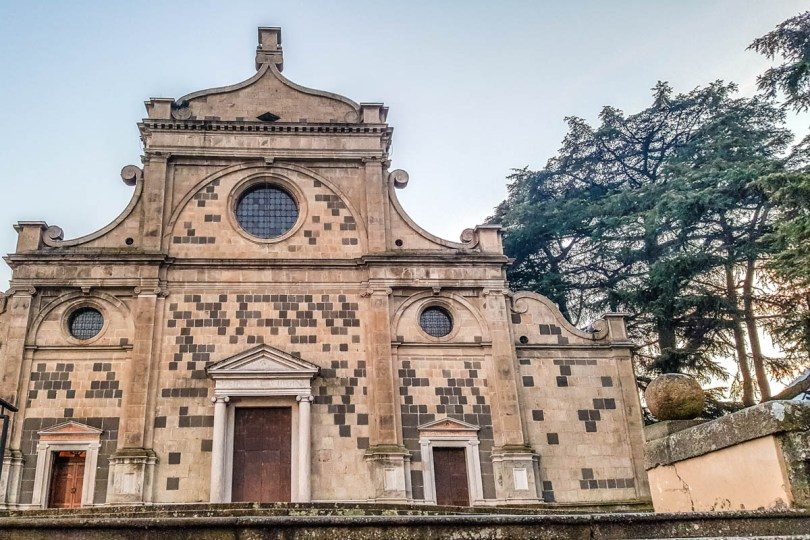 The facade of the church of the Praglia Abbey - Teolo, Euganean Hills, Veneto, Italy - rossiwrites.com
