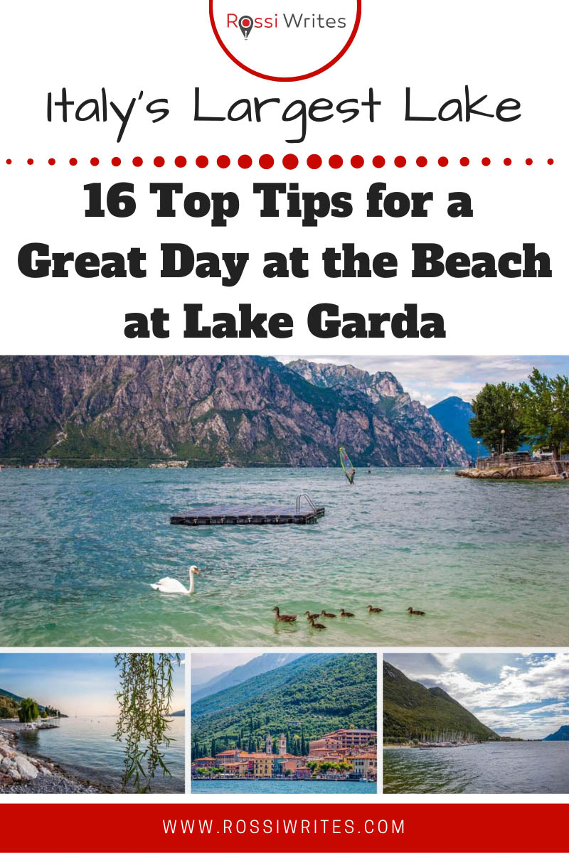 Pin Me - Lake Garda Beaches - 16 Top Tips for a Great Day at the Beach at Italy's Largest Lake - rossiwrites.com