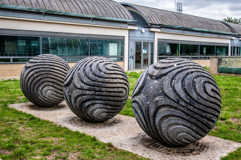 A seed sculpture outside the Millenium Seed Bank - Wakehurst, West Sussex, England, UK - rossiwrites.com