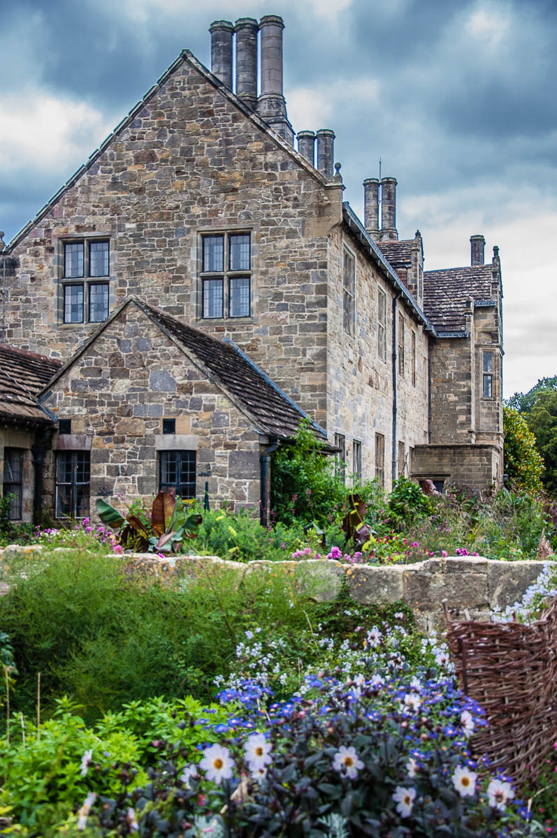 The Mansion surrounded by flowers - Wakehurst, West Sussex, England, UK - rossiwrites.com