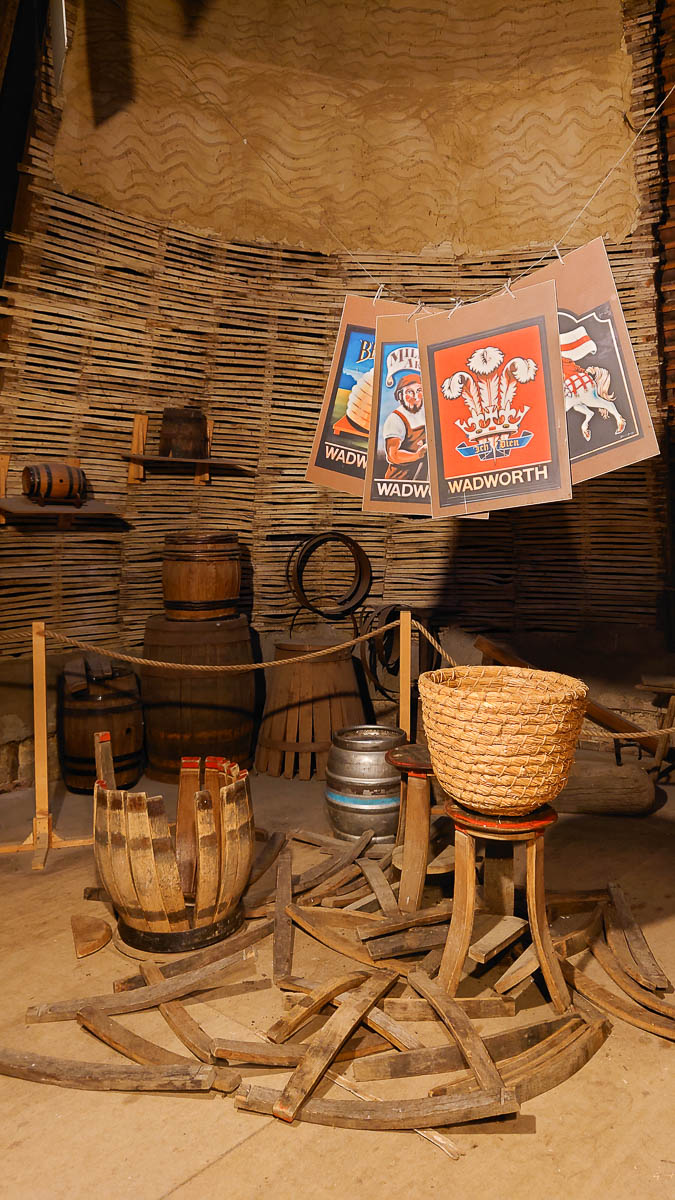 The display inside one of the kilns of the historic oast house - Kent Life - Maidstone, Kent, England - rossiwrites.com