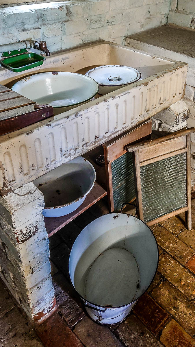 The sink in the historic kitchen - Kent Life - Maidstone, Kent, England - rossiwrites.com