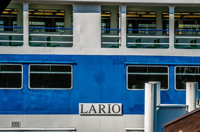 A close-up of a lake ferry - Lake Como, Italy - rossiwrites.com