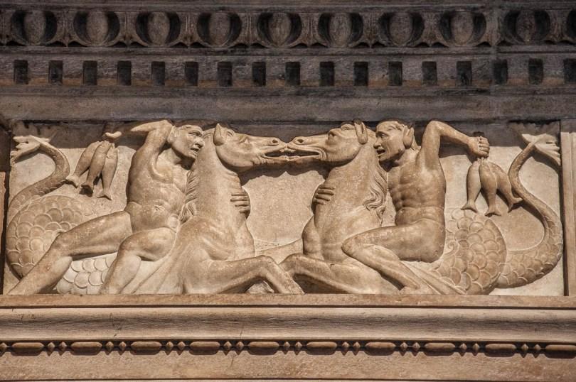 Close-up of a bas-relief in the Duomo - Como - Lake Como, Italy - rossiwrites.com