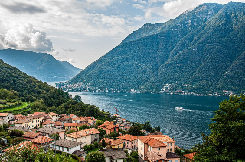 Panoramic view of Nesso - Lake Como, Italy - rossiwrites.com