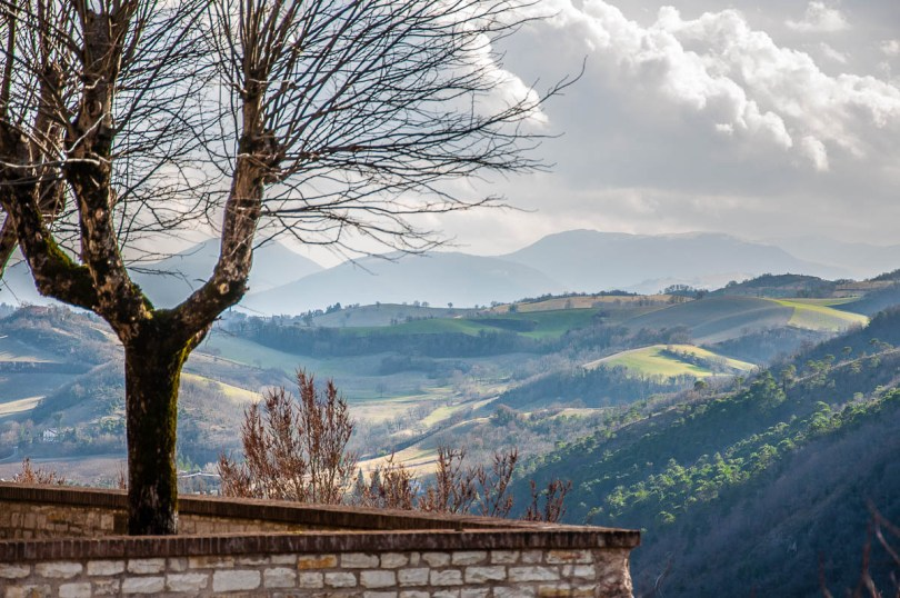 The view from the hilltop village of Genga - Frasassi Caves, Italy - rossiwrites.com