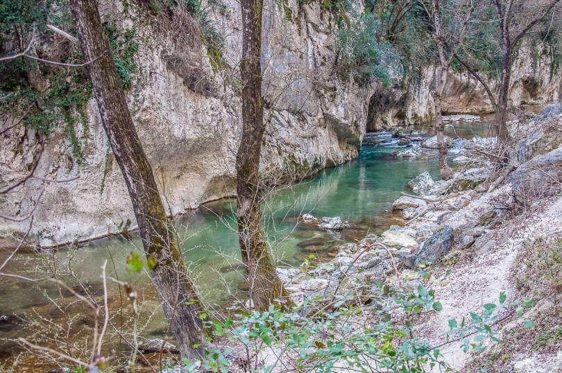 The River Sentino - Frasassi Caves, Italy - rossiwrites.com