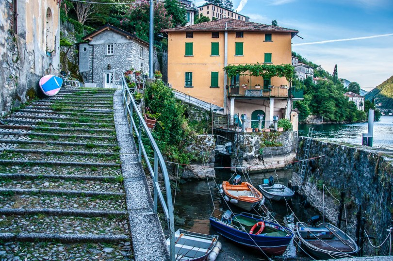 The small harbour - Nesso, Lake Como, Italy - rossiwrites.com