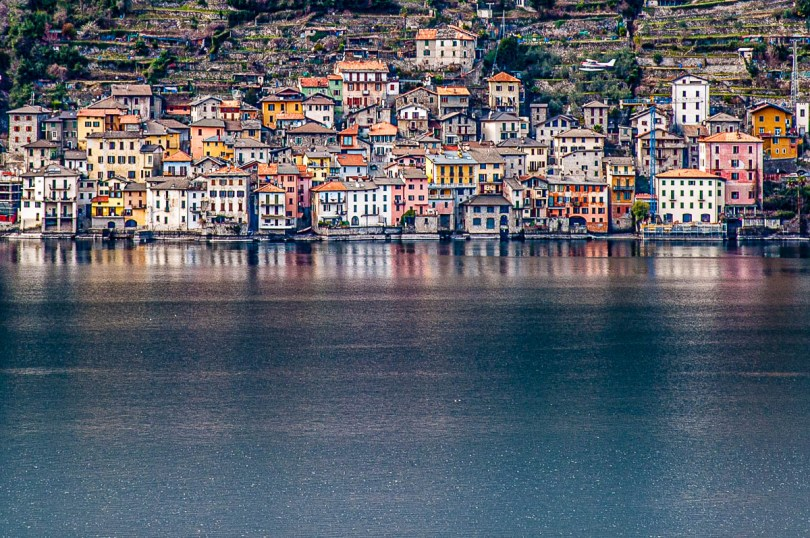 The town of Brienno seen across the water - Lake Como, Italy - rossiwrites.com