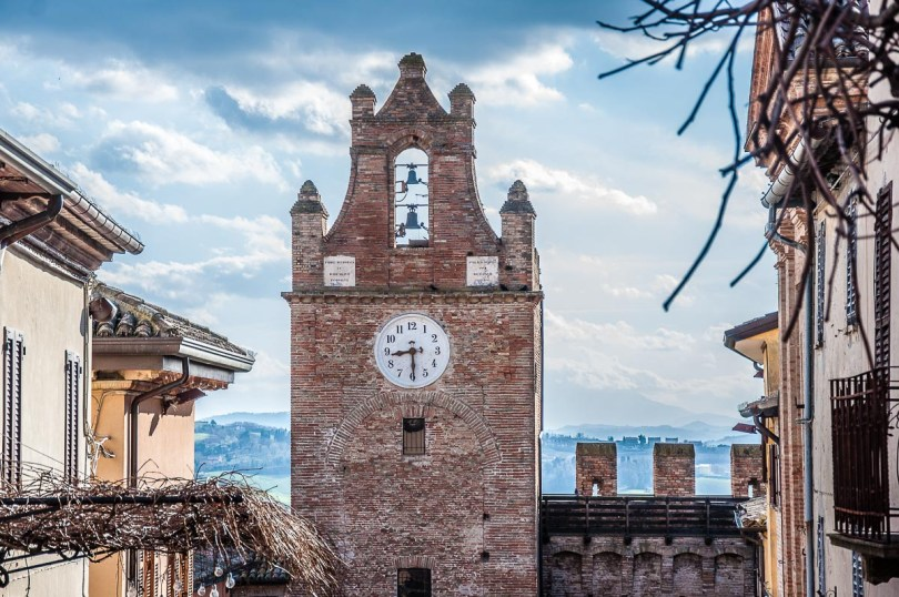 The clocktower of the fortified village - Gradara, Italy - rossiwrites.com