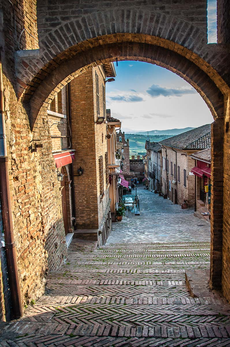 The open gate of the second circle of defensive walls - Gradara, Italy - rossiwrites.com